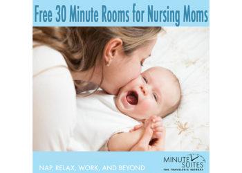 Nursing mom and baby