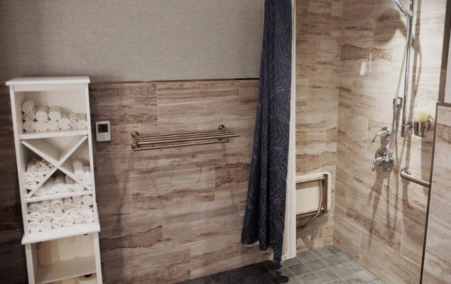 bathrooms at Minute Suites
